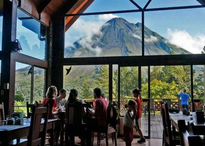Arenal Observatory Lodge Restaurant View